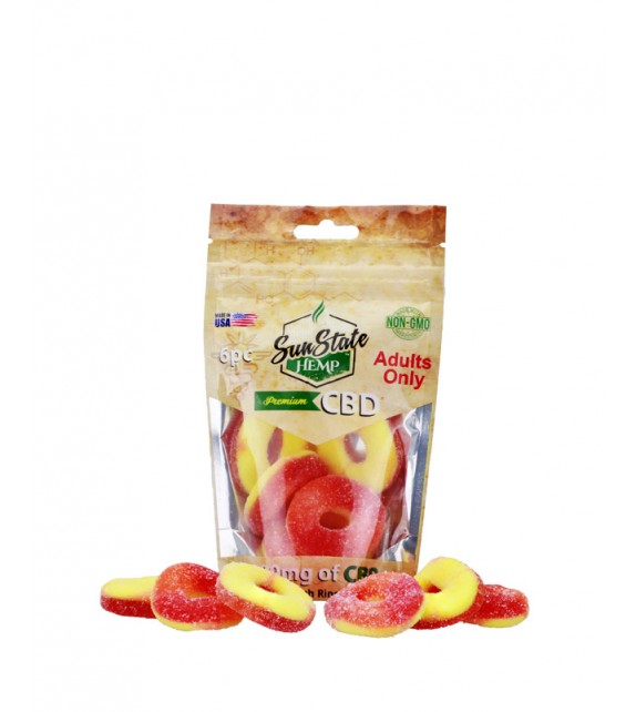 Sun State Hemp - CBD Gummies - Peach