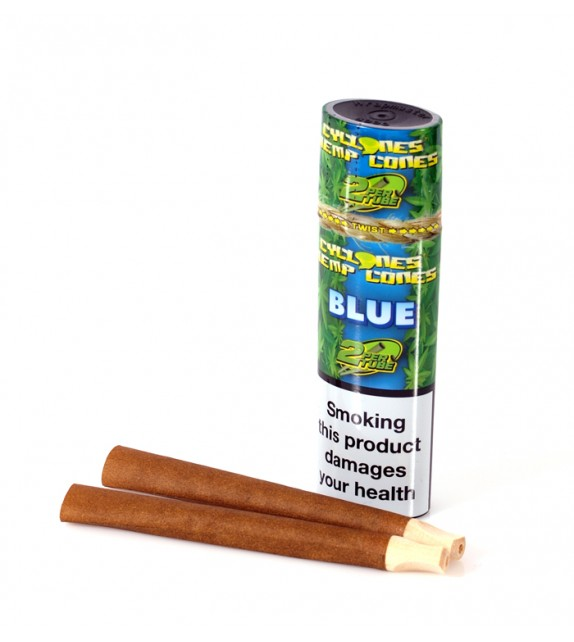 Cyclones Hemp Cones - Blue