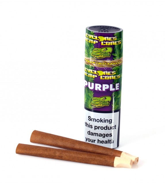 Cyclones Hemp Cones - Purple