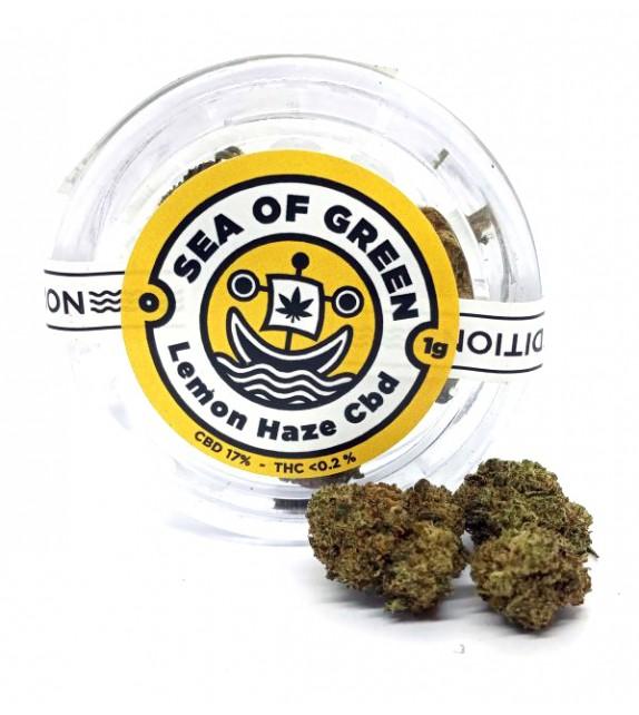 Sea Of Green - Lemon Haze CBD 17% 1g +Grinder