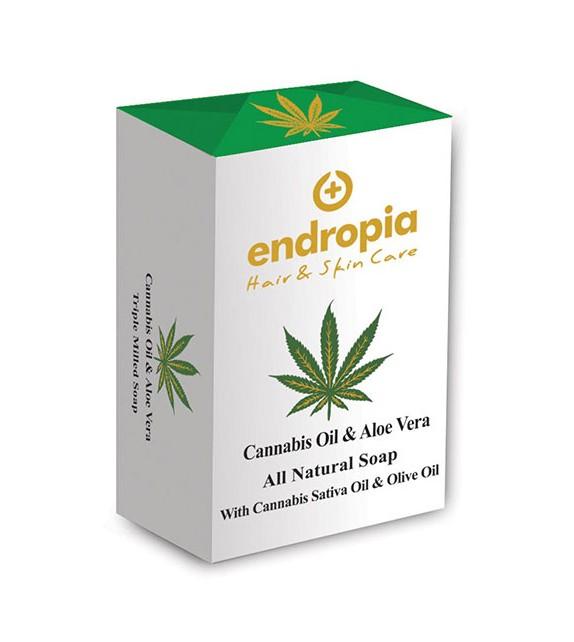 Endropia - Aloe Vera & Cannabis Oil Soap 150g