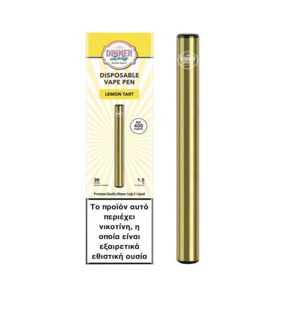 Dinner Lady Smooth Tobacco Disposable Vape Pen 20Mg 1.5ml