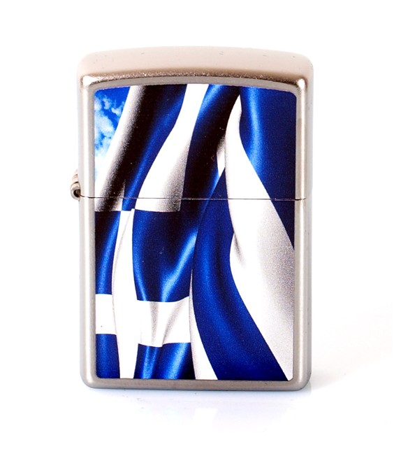 ZIPPO - GREEK FLAG