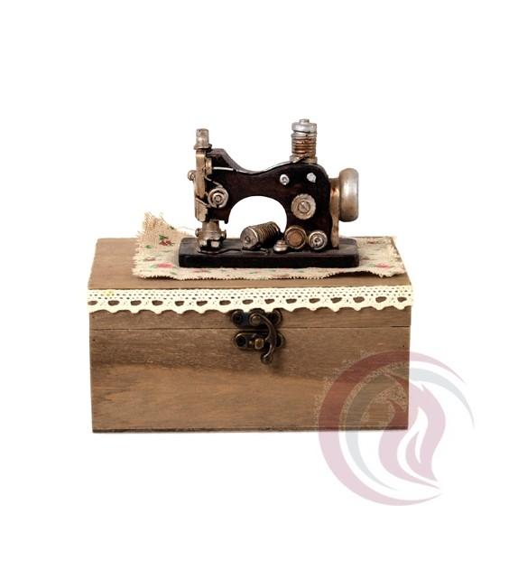 Ξύλινο Κουτί - Ραπτομηχανή