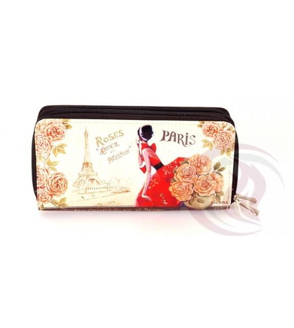 Double Zipper - Paris Roses