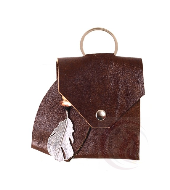 Keychain - Feather - Brown