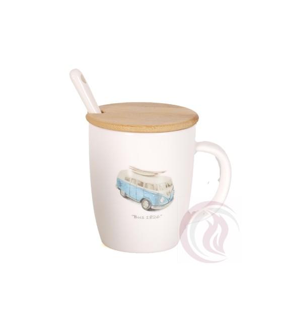 Κούπα με Ξύλινο Καπάκι - MiniBus