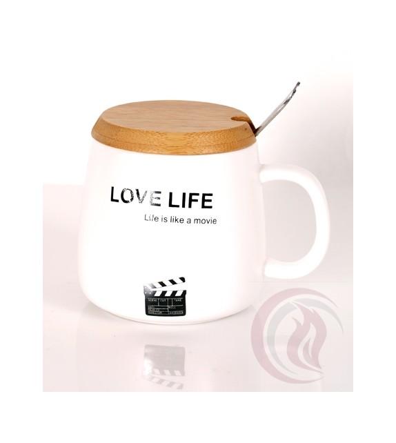 Κούπα με Ξύλινο Καπάκι - Love Life