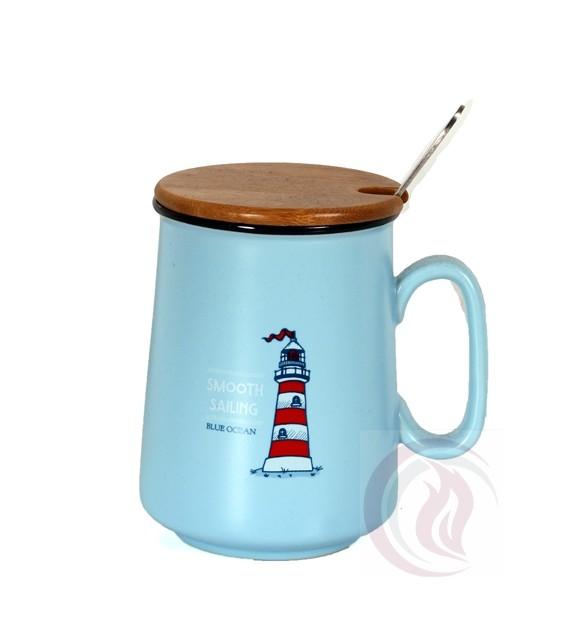 Κούπα με Ξύλινο Καπάκι - Smooth Sailing