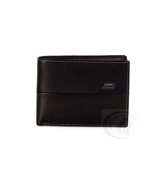 fc9bd3ef5f Lavor - Wallet - Black D.Gray 1-5815 Δερμάτινο πορτοφόλι