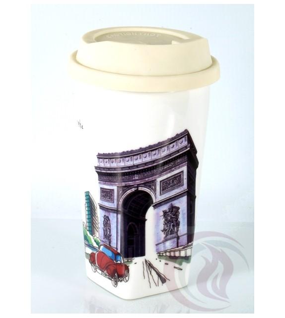 Κούπα με Καπάκι Σιλικόνης - Ark de Triomphe