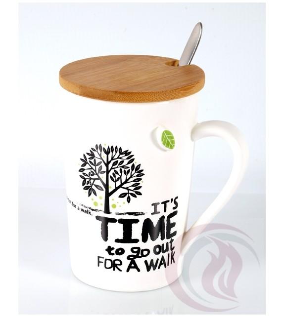 Κούπα με Ξύλινο Καπάκι - Tree