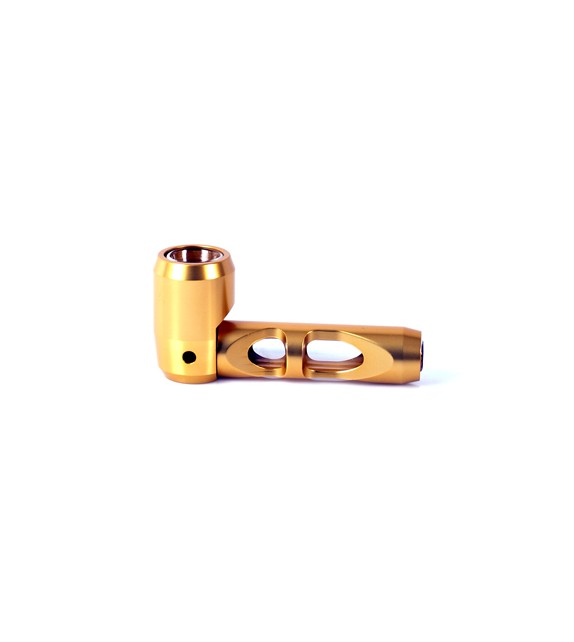 Glass & Metal Pipe Gold
